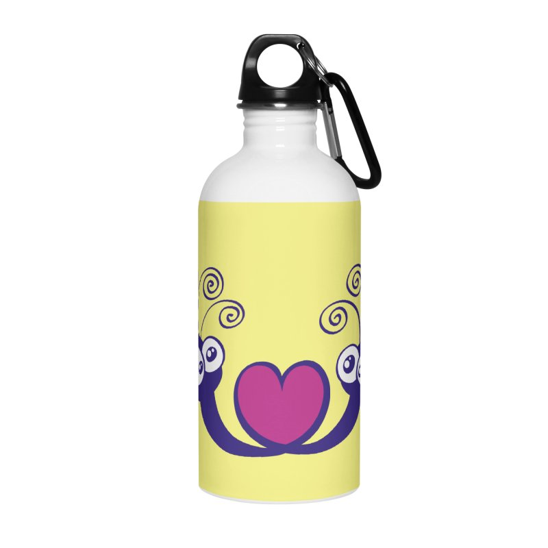 Funny mosquitoes irremediably falling in love Accessories Water Bottle by Zoo&co's Artist Shop