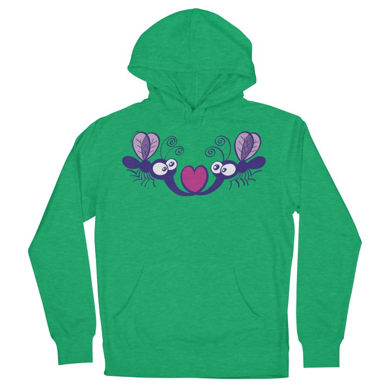 Funny mosquitoes irremediably falling in love Women's Pullover Hoody by Zoo&co's Artist Shop