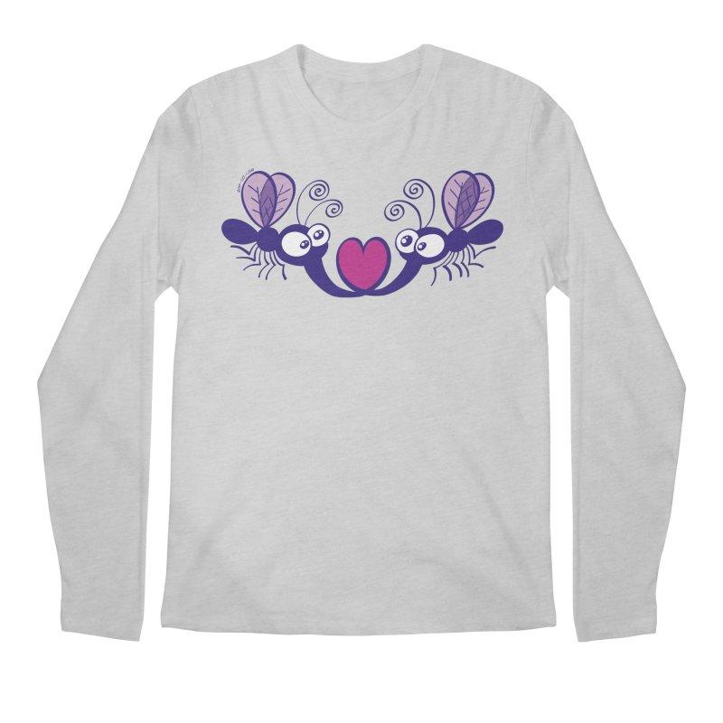 Funny mosquitoes irremediably falling in love Men's Longsleeve T-Shirt by Zoo&co's Artist Shop
