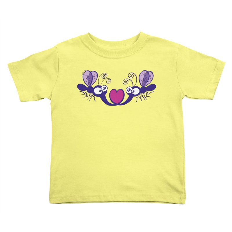 Funny mosquitoes irremediably falling in love Kids Toddler T-Shirt by Zoo&co's Artist Shop