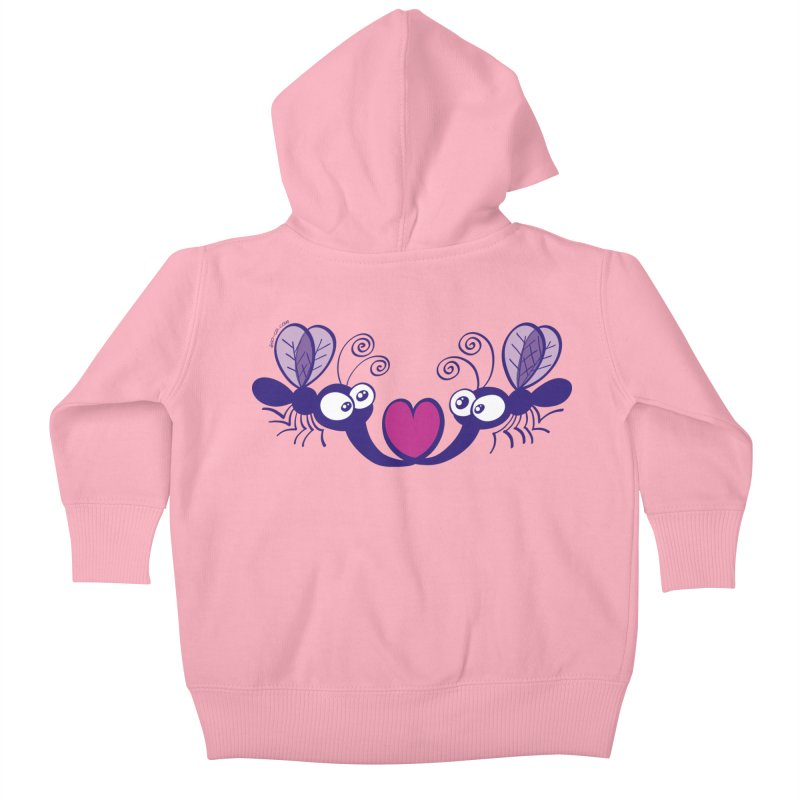 Funny mosquitoes irremediably falling in love Kids Baby Zip-Up Hoody by Zoo&co's Artist Shop