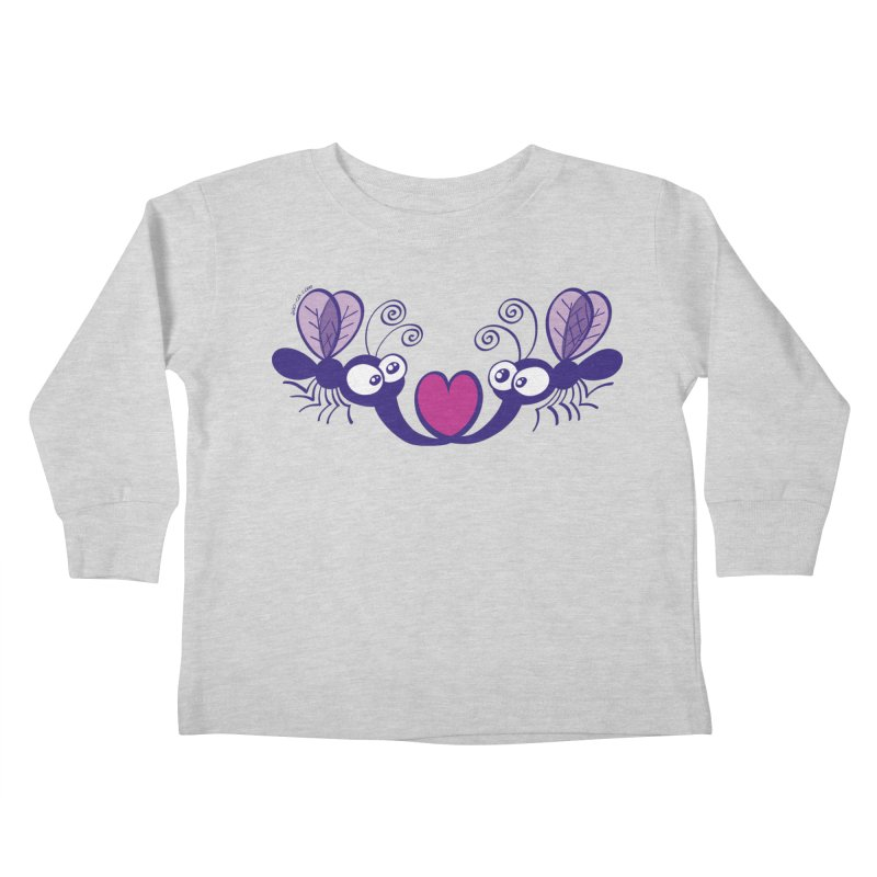 Funny mosquitoes irremediably falling in love Kids Toddler Longsleeve T-Shirt by Zoo&co's Artist Shop