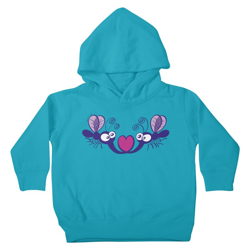 Funny mosquitoes irremediably falling in love Kids Toddler Pullover Hoody by Zoo&co's Artist Shop