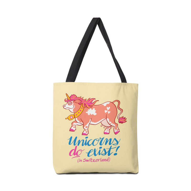 Unicorns do exist in Switzerland Accessories Bag by Zoo&co's Artist Shop