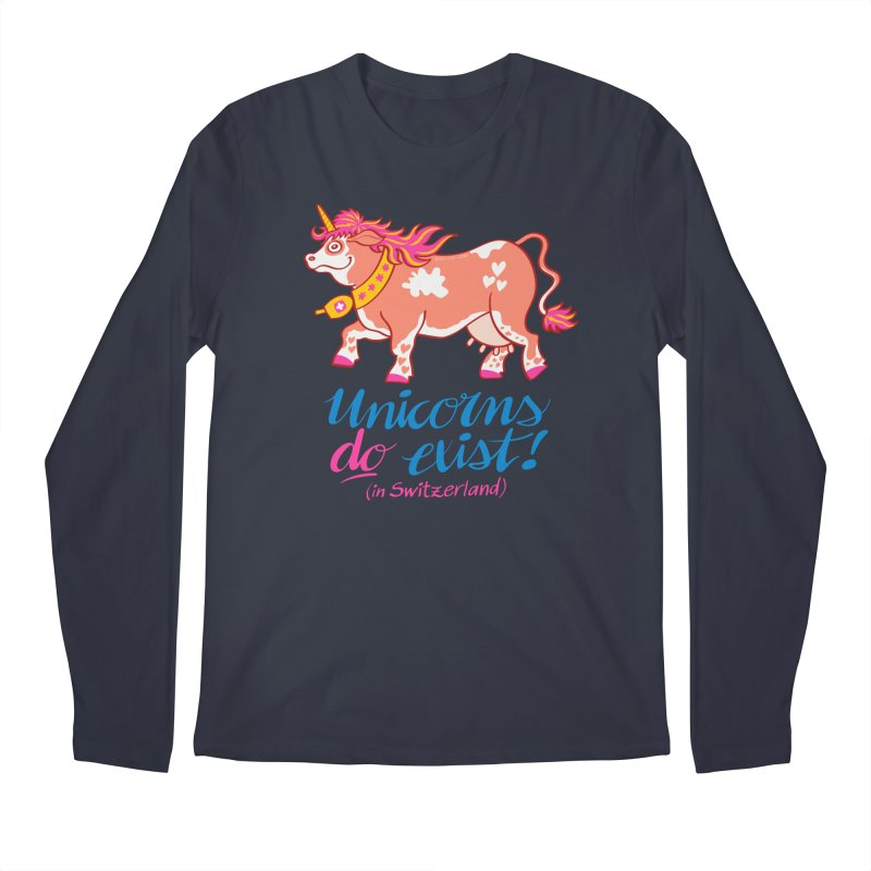Unicorns do exist in Switzerland Men's Longsleeve T-Shirt by Zoo&co's Artist Shop
