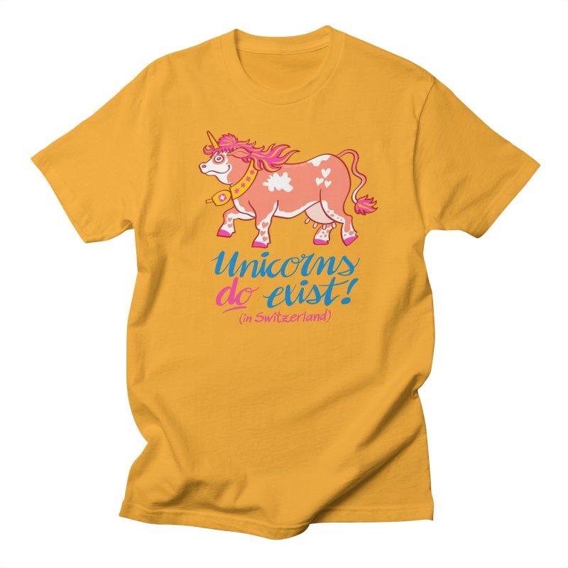 Unicorns do exist in Switzerland Men's T-Shirt by Zoo&co's Artist Shop