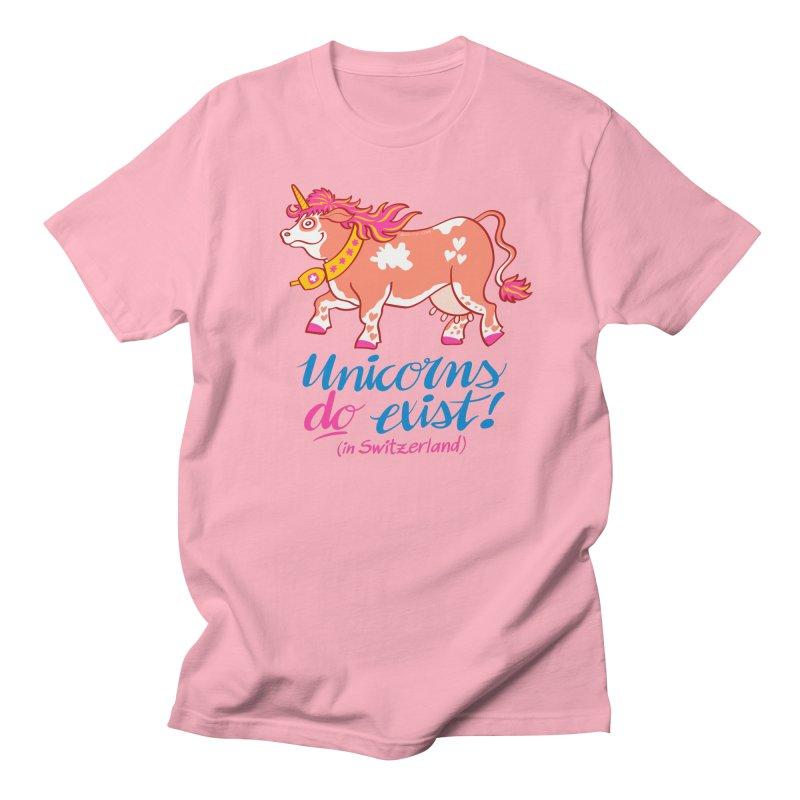 Unicorns do exist in Switzerland Women's Unisex T-Shirt by Zoo&co's Artist Shop