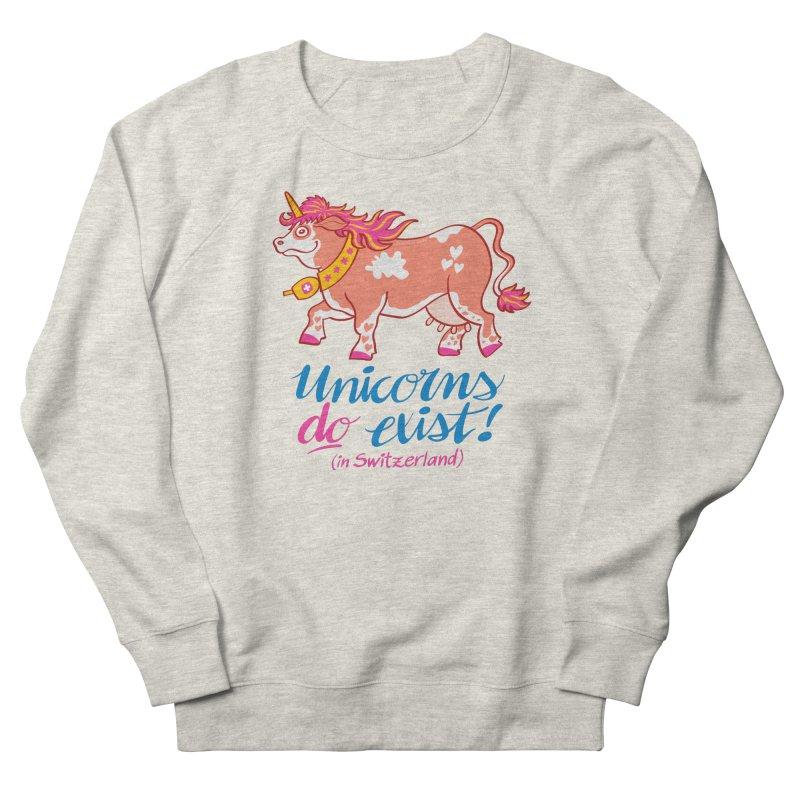 Unicorns do exist in Switzerland Men's Sweatshirt by Zoo&co's Artist Shop