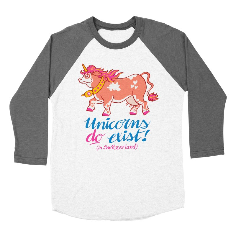 Unicorns do exist in Switzerland Women's Baseball Triblend T-Shirt by Zoo&co's Artist Shop