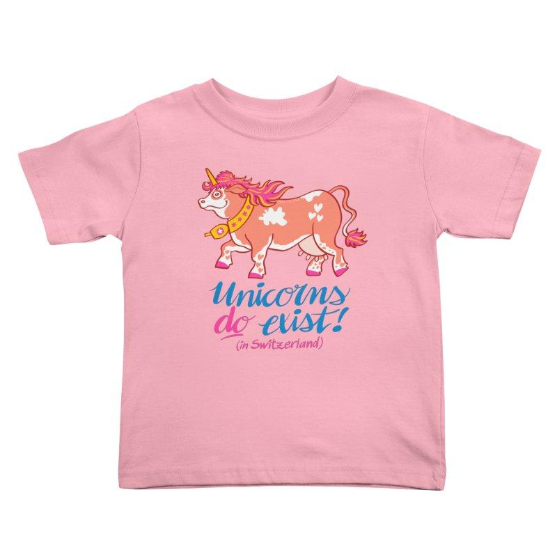 Unicorns do exist in Switzerland Kids Toddler T-Shirt by Zoo&co's Artist Shop