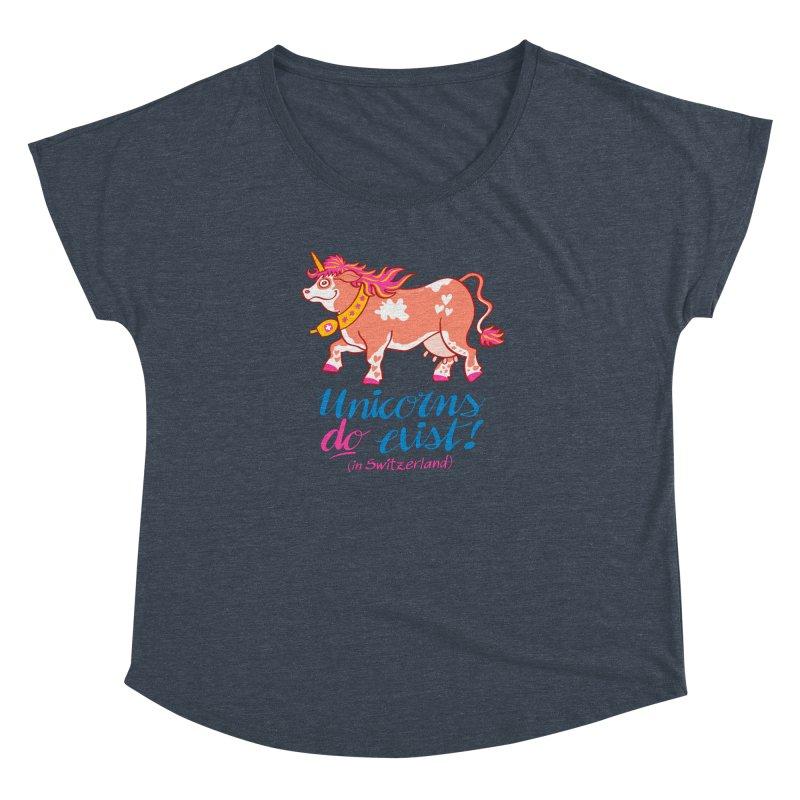 Unicorns do exist in Switzerland Women's Dolman by Zoo&co's Artist Shop