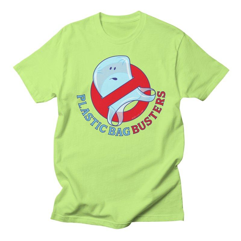 Plastic bag busters: Stop plastic pollution Men's T-Shirt by Zoo&co's Artist Shop
