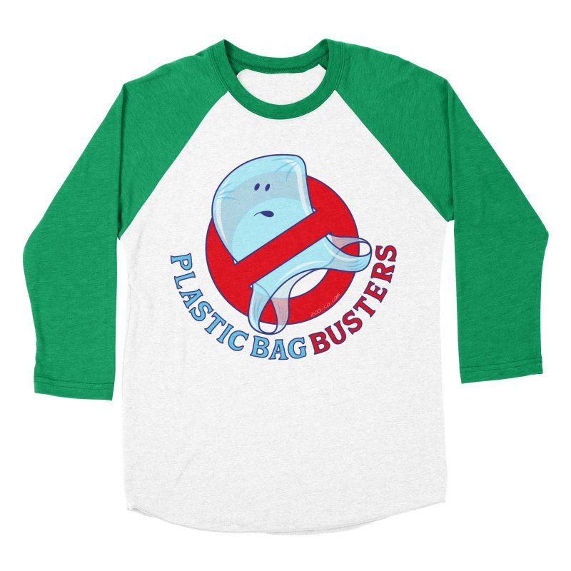 Plastic bag busters: Stop plastic pollution Women's Baseball Triblend T-Shirt by Zoo&co's Artist Shop
