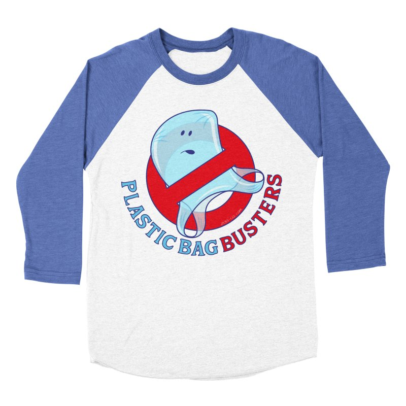 Plastic bag busters: Stop plastic pollution Men's Baseball Triblend T-Shirt by Zoo&co's Artist Shop