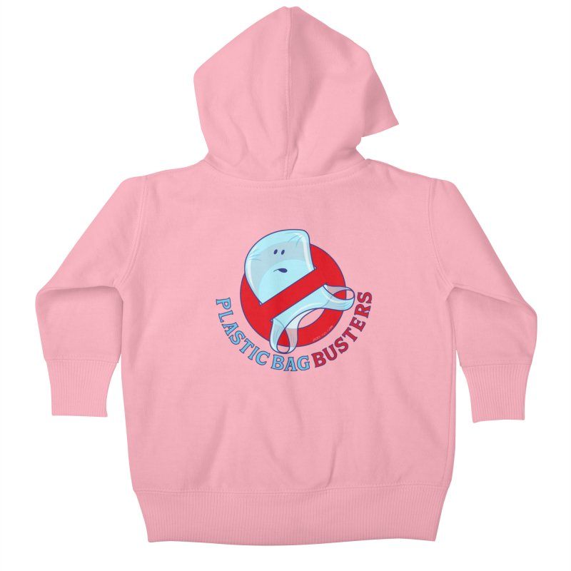 Plastic bag busters: Stop plastic pollution Kids Baby Zip-Up Hoody by Zoo&co's Artist Shop