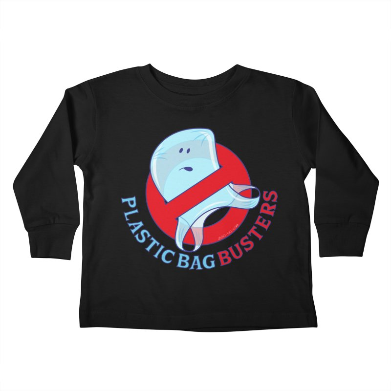 Plastic bag busters: Stop plastic pollution Kids Toddler Longsleeve T-Shirt by Zoo&co's Artist Shop