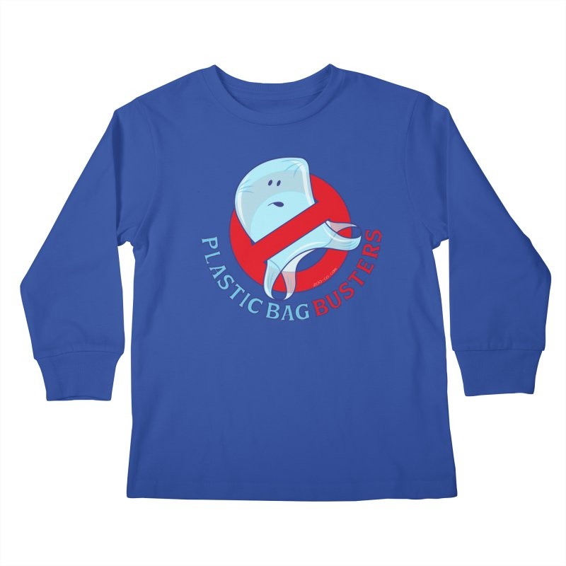 Plastic bag busters: Stop plastic pollution Kids Longsleeve T-Shirt by Zoo&co's Artist Shop