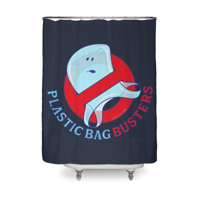 Plastic bag busters: Stop plastic pollution Home Shower Curtain by Zoo&co's Artist Shop
