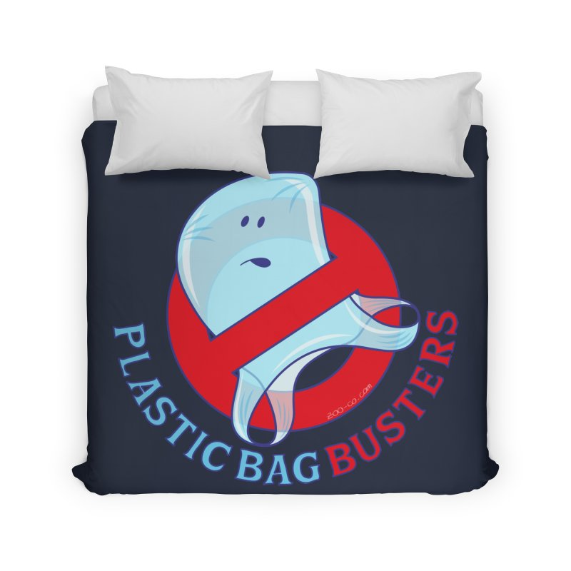 Plastic bag busters: Stop plastic pollution Home Duvet by Zoo&co's Artist Shop