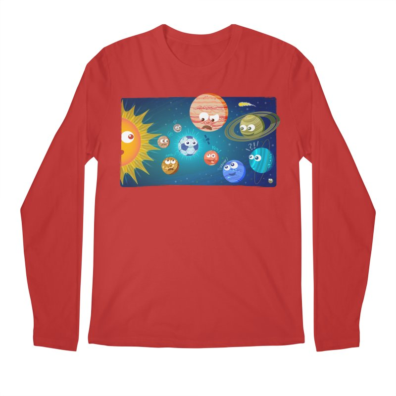 Soccer solar system Men's Longsleeve T-Shirt by Zoo&co's Artist Shop