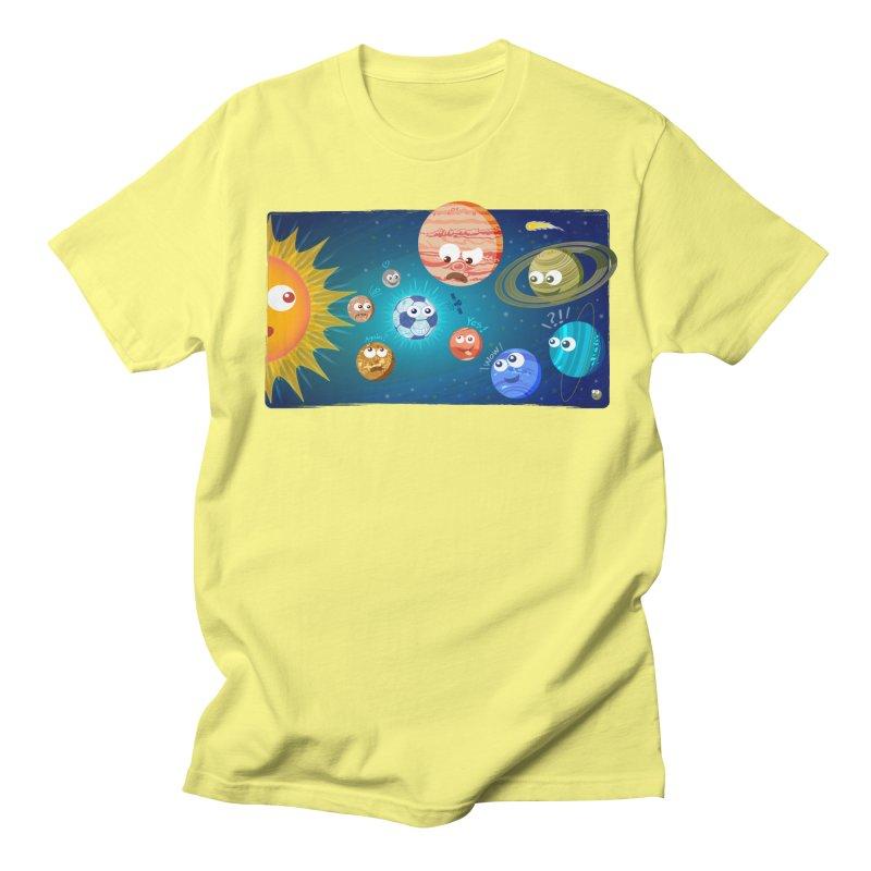 Soccer solar system Men's T-Shirt by Zoo&co's Artist Shop