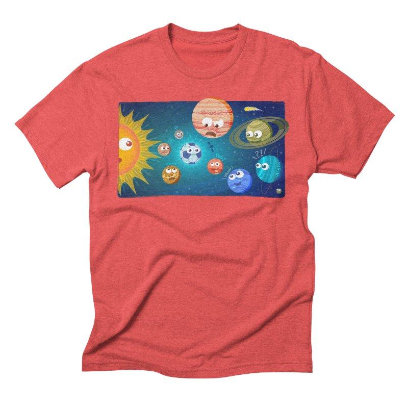 Soccer solar system Men's Triblend T-Shirt by Zoo&co's Artist Shop