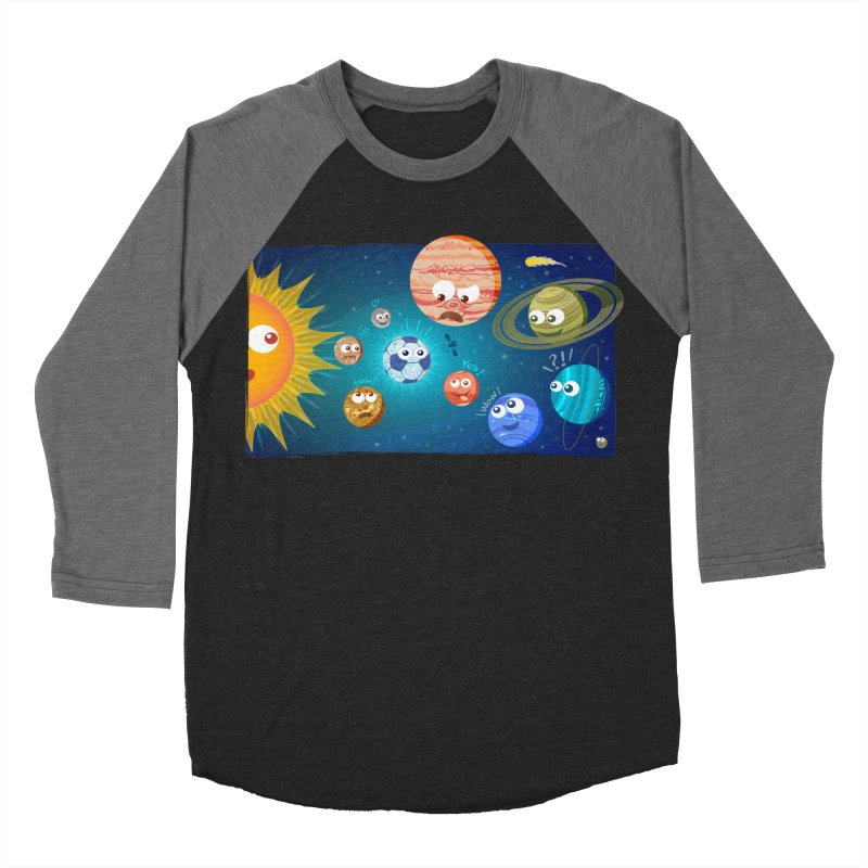 Soccer solar system Men's Baseball Triblend T-Shirt by Zoo&co's Artist Shop