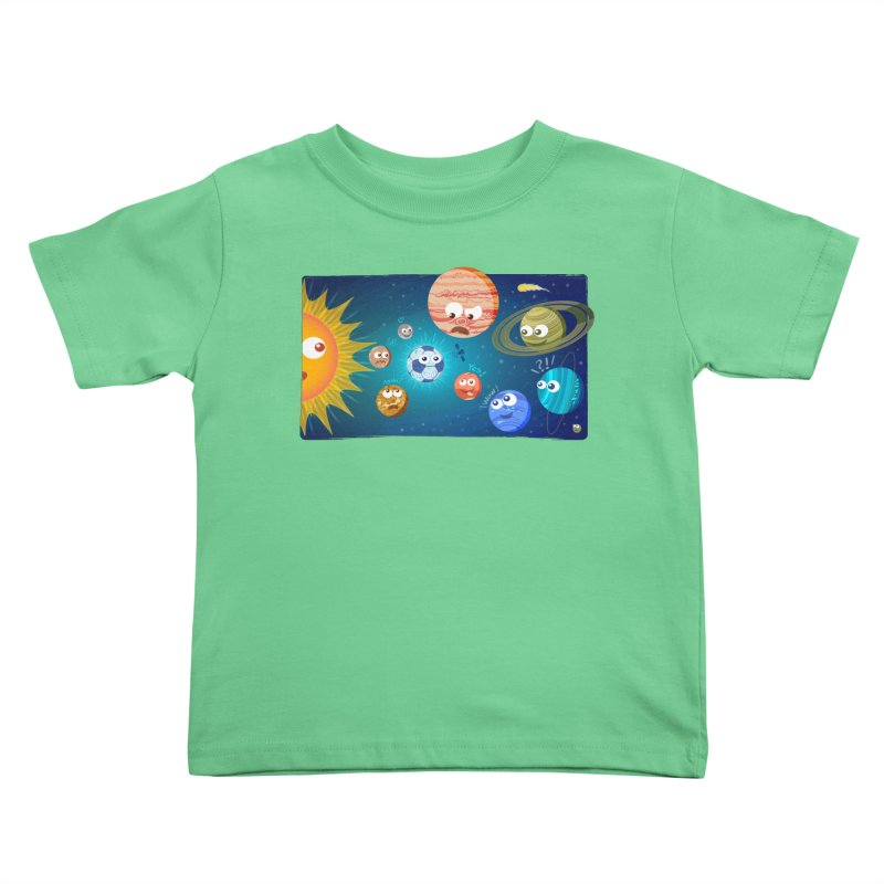 Soccer solar system Kids Toddler T-Shirt by Zoo&co's Artist Shop