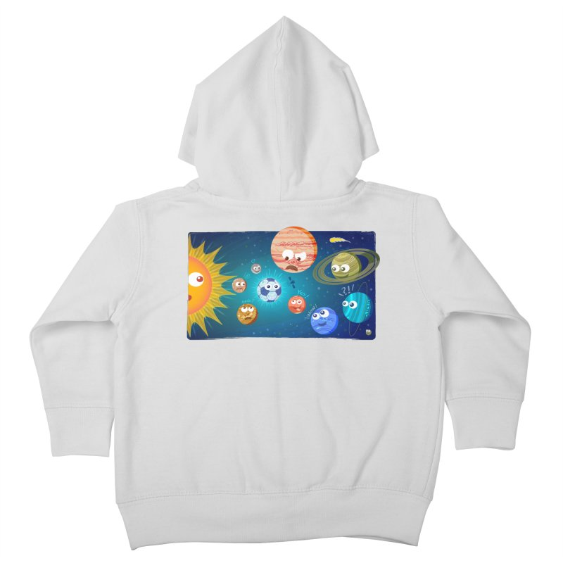 Soccer solar system Kids Toddler Zip-Up Hoody by Zoo&co's Artist Shop