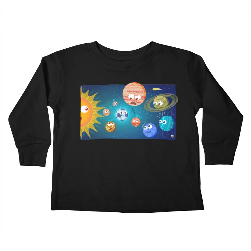 Soccer solar system Kids Toddler Longsleeve T-Shirt by Zoo&co's Artist Shop