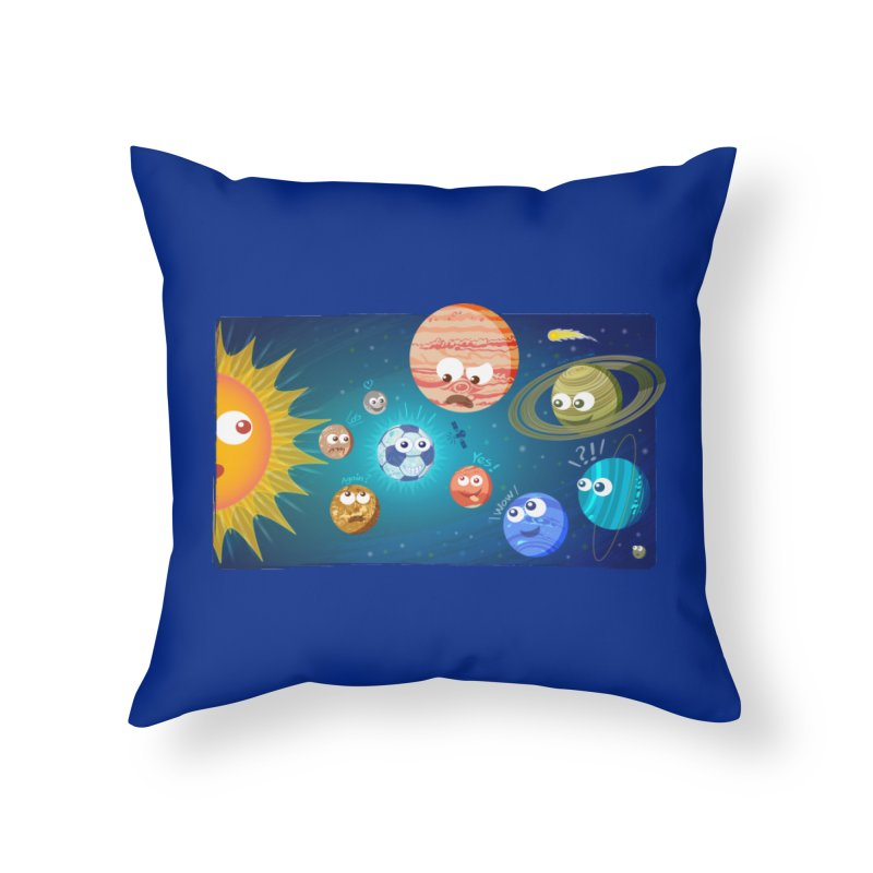 Soccer solar system Home Throw Pillow by Zoo&co's Artist Shop