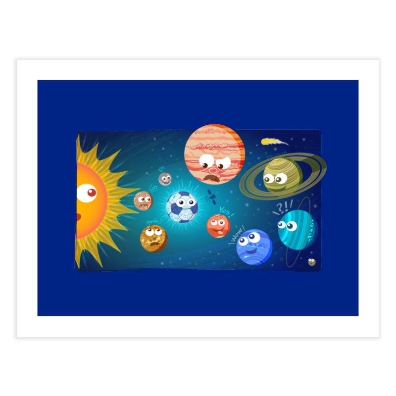 Soccer solar system Home Fine Art Print by Zoo&co's Artist Shop