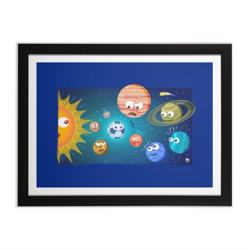 Soccer solar system Home Framed Fine Art Print by Zoo&co's Artist Shop
