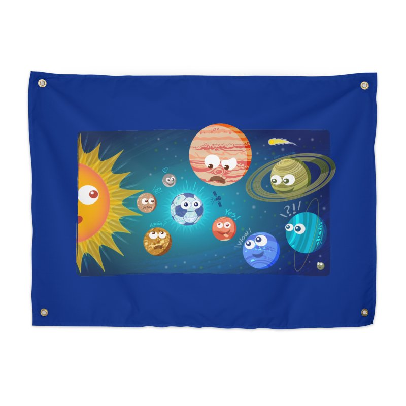Soccer solar system Home Tapestry by Zoo&co's Artist Shop