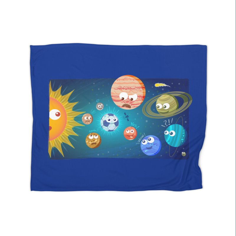 Soccer solar system Home Blanket by Zoo&co's Artist Shop