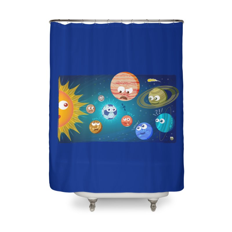 Soccer solar system Home Shower Curtain by Zoo&co's Artist Shop