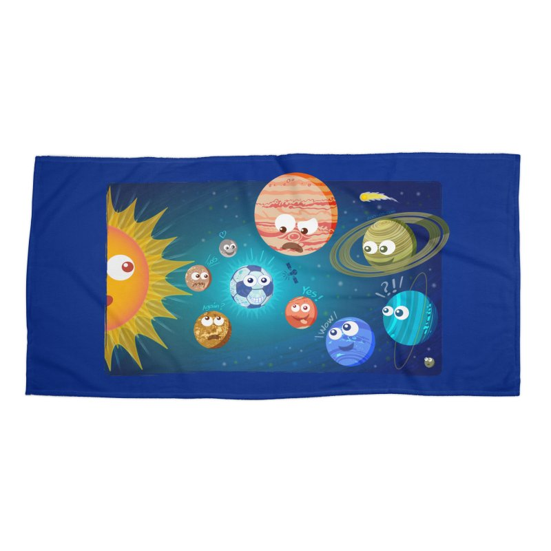 Soccer solar system Accessories Beach Towel by Zoo&co's Artist Shop
