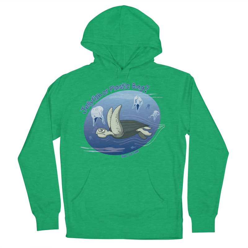 Plastic jellyfishes for a leatherback sea turtle Women's Pullover Hoody by Zoo&co's Artist Shop