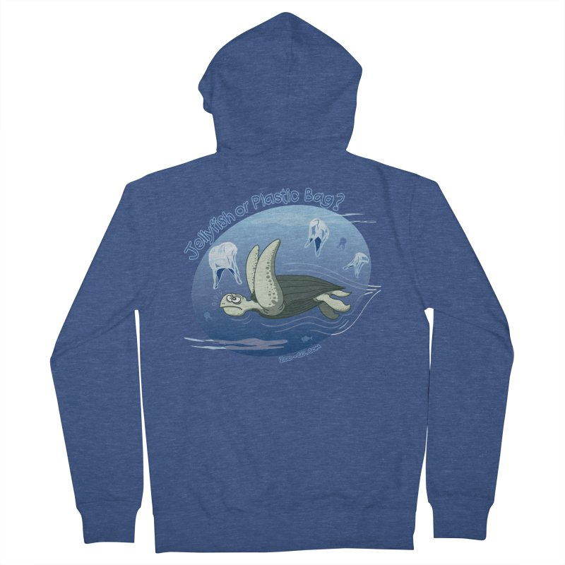 Plastic jellyfishes for a leatherback sea turtle Women's Zip-Up Hoody by Zoo&co's Artist Shop