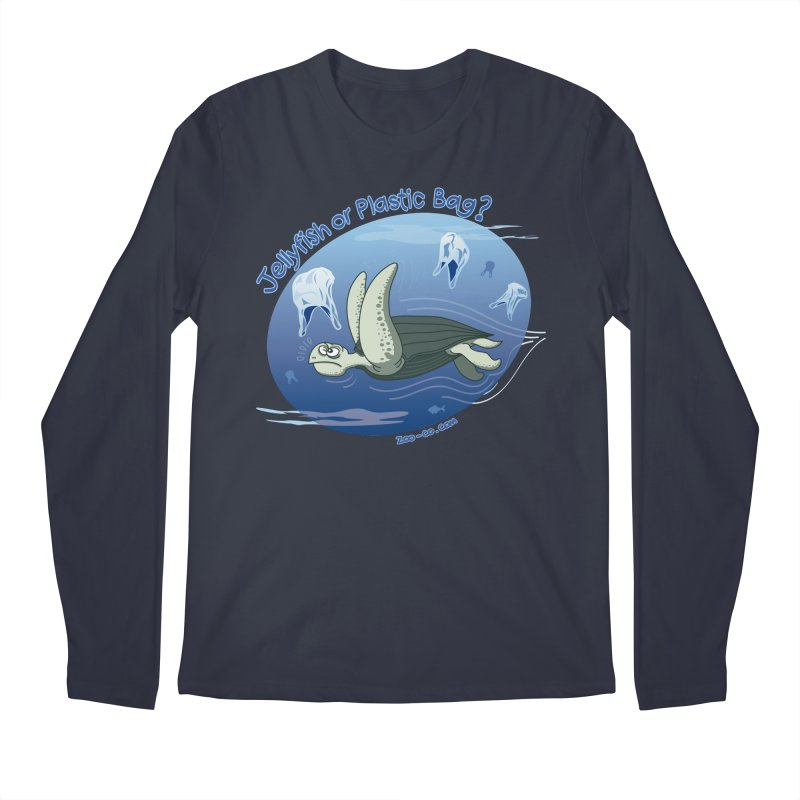 Plastic jellyfishes for a leatherback sea turtle Men's Longsleeve T-Shirt by Zoo&co's Artist Shop
