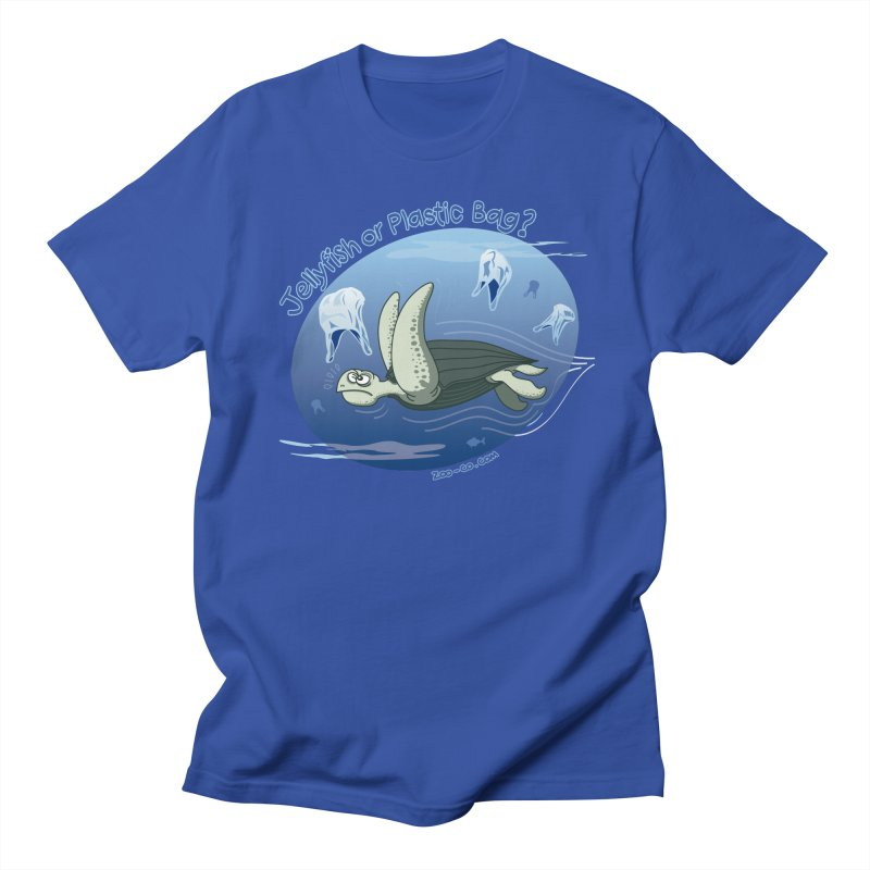 Plastic jellyfishes for a leatherback sea turtle Men's T-Shirt by Zoo&co's Artist Shop