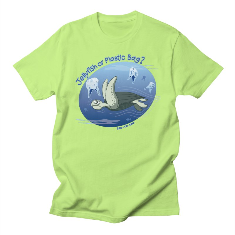 Plastic jellyfishes for a leatherback sea turtle Women's Unisex T-Shirt by Zoo&co's Artist Shop