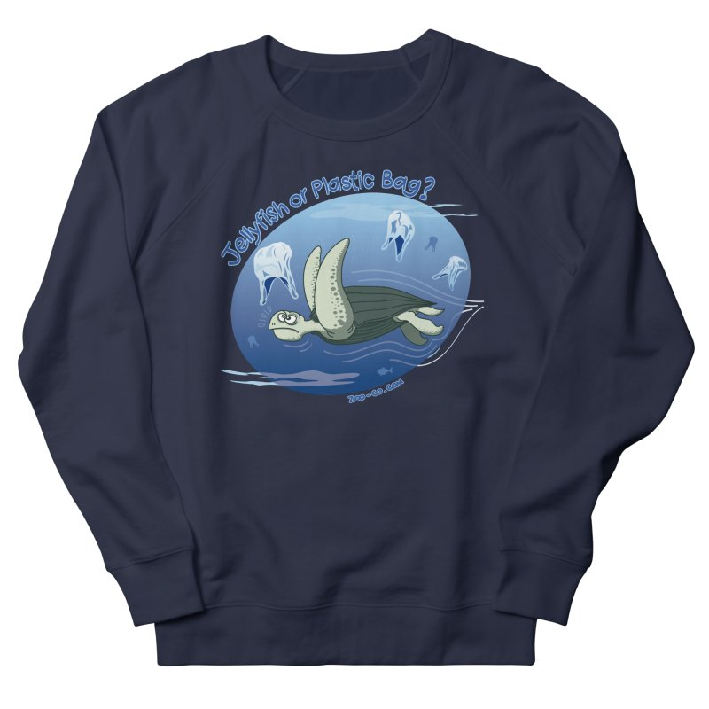Plastic jellyfishes for a leatherback sea turtle Women's Sweatshirt by Zoo&co's Artist Shop