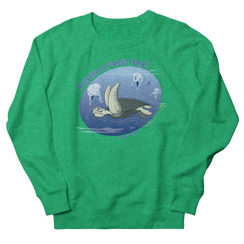 Plastic jellyfishes for a leatherback sea turtle Men's Sweatshirt by Zoo&co's Artist Shop