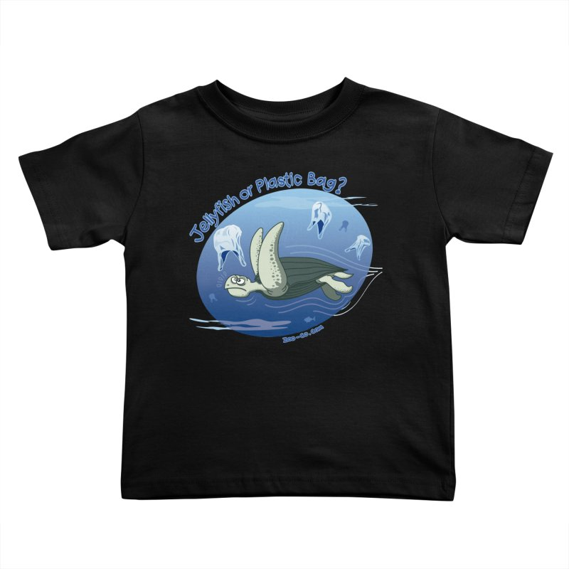 Plastic jellyfishes for a leatherback sea turtle Kids Toddler T-Shirt by Zoo&co's Artist Shop