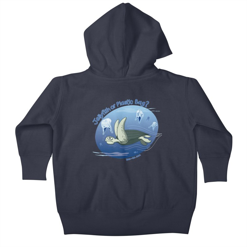 Plastic jellyfishes for a leatherback sea turtle Kids Baby Zip-Up Hoody by Zoo&co's Artist Shop