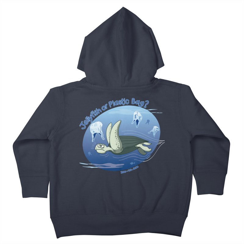 Plastic jellyfishes for a leatherback sea turtle Kids Toddler Zip-Up Hoody by Zoo&co's Artist Shop