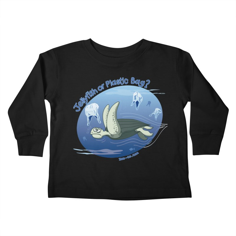 Plastic jellyfishes for a leatherback sea turtle Kids Toddler Longsleeve T-Shirt by Zoo&co's Artist Shop