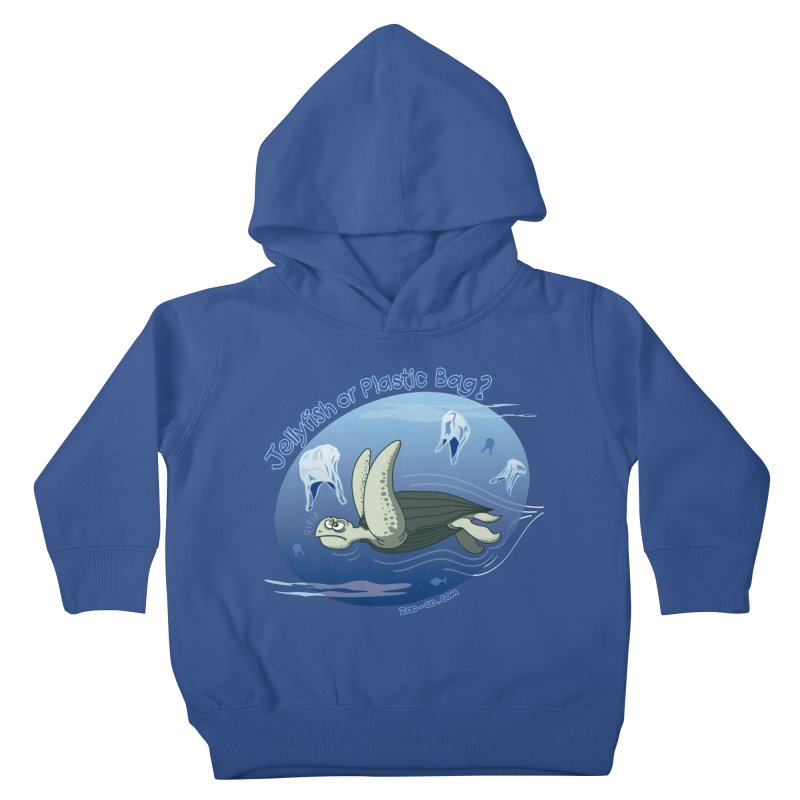 Plastic jellyfishes for a leatherback sea turtle Kids Toddler Pullover Hoody by Zoo&co's Artist Shop