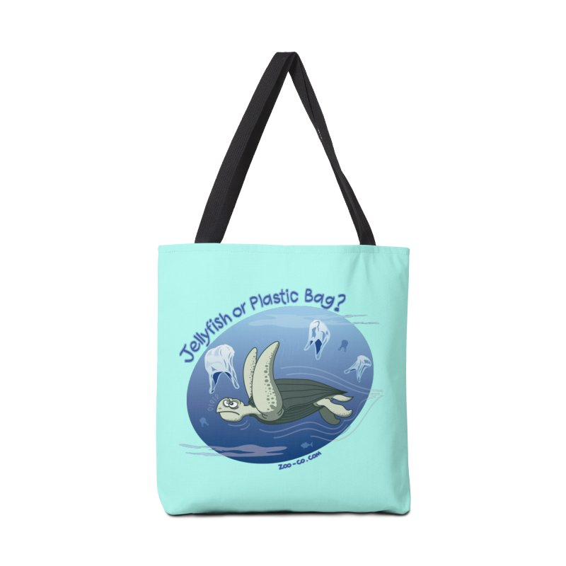 Plastic jellyfishes for a leatherback sea turtle Accessories Bag by Zoo&co's Artist Shop